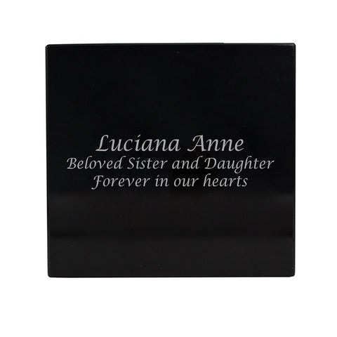 Black Marble Box Cremation Urn