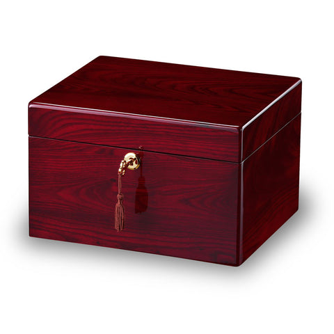 Rosewood Wooden Cremation Urn and Memory Box - Devotion