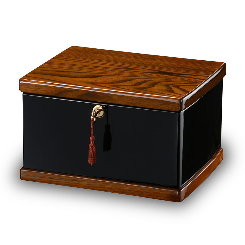 Courage Burl Wood Cremation Chest