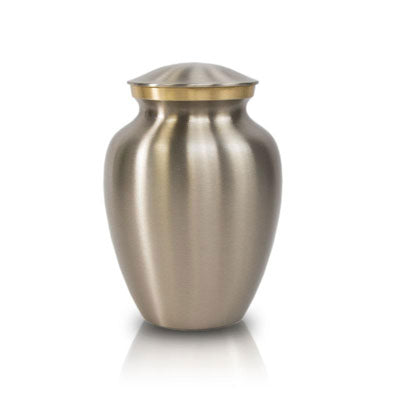 Handsome Pewter Cremation Urn - Extra Small