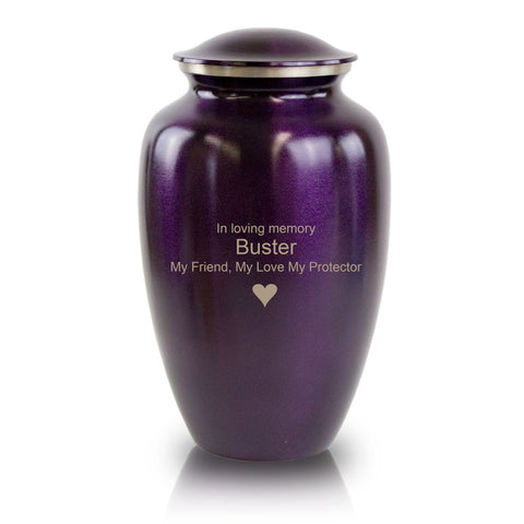 Luxurious Violet Cremation Urn