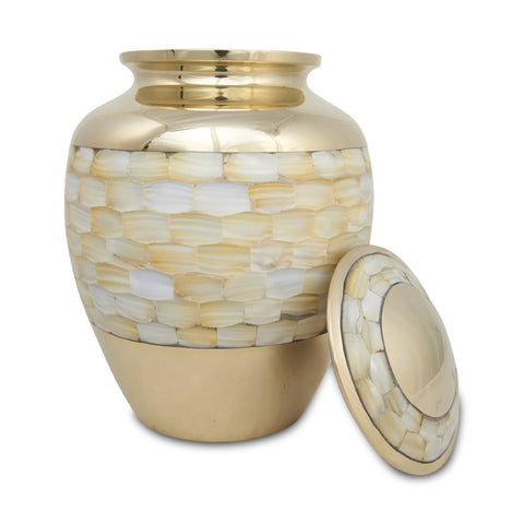 Elite Mother of Pearl Cremation Urn - Large