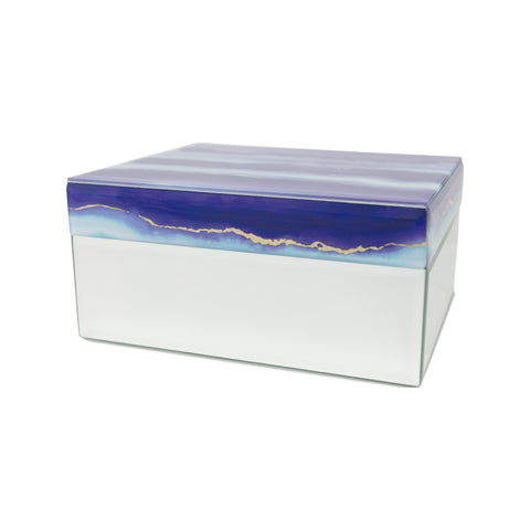 Modern Twilight Clouds Glass Cremation Urn for Pets