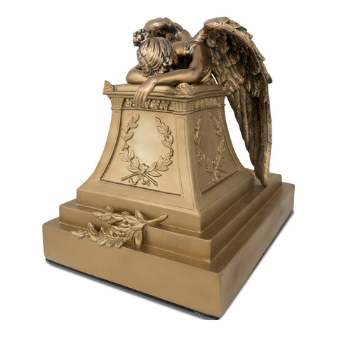 Bronze Finish Weeping Angel Cremation Urn - Large