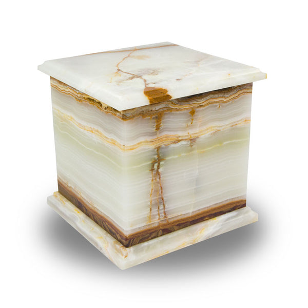 Genuine Marble Box Cremation Urn -Alpine Green