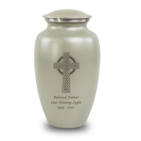 Celtic Cross Cremation Urn- Gray