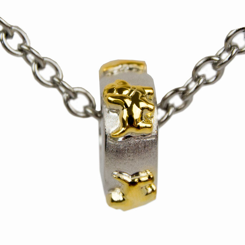 Dog Cremation Charm Bead - Sterling Silver