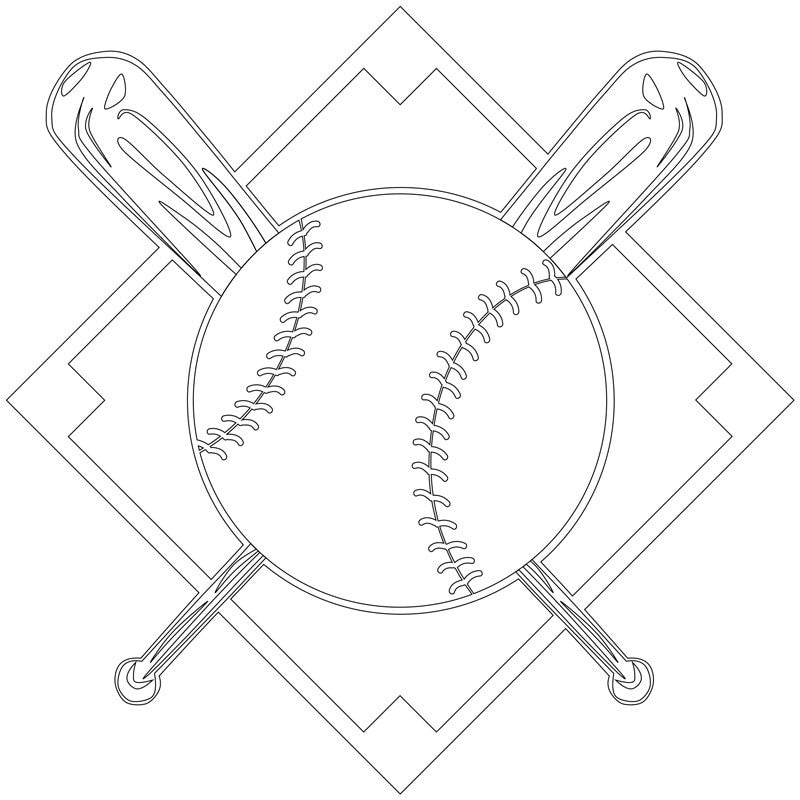 Baseball Engraving - Large
