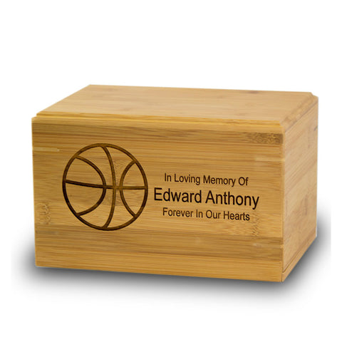 Basketball Bamboo Box Cremation Urn