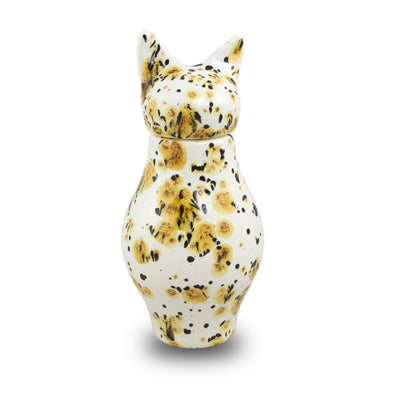 Ceramic Cat Cremation Urn - Calico Bastet