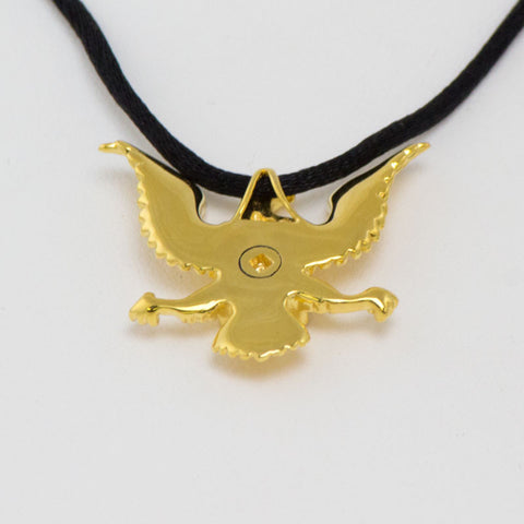 Military Eagle Cremation Pendant - Gold Vermeil