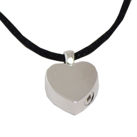 Sterling Silver Heart Cremation Pendant for Ashes