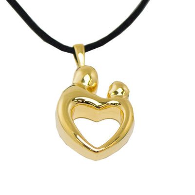 Gold Parent and Child Cremation Pendant