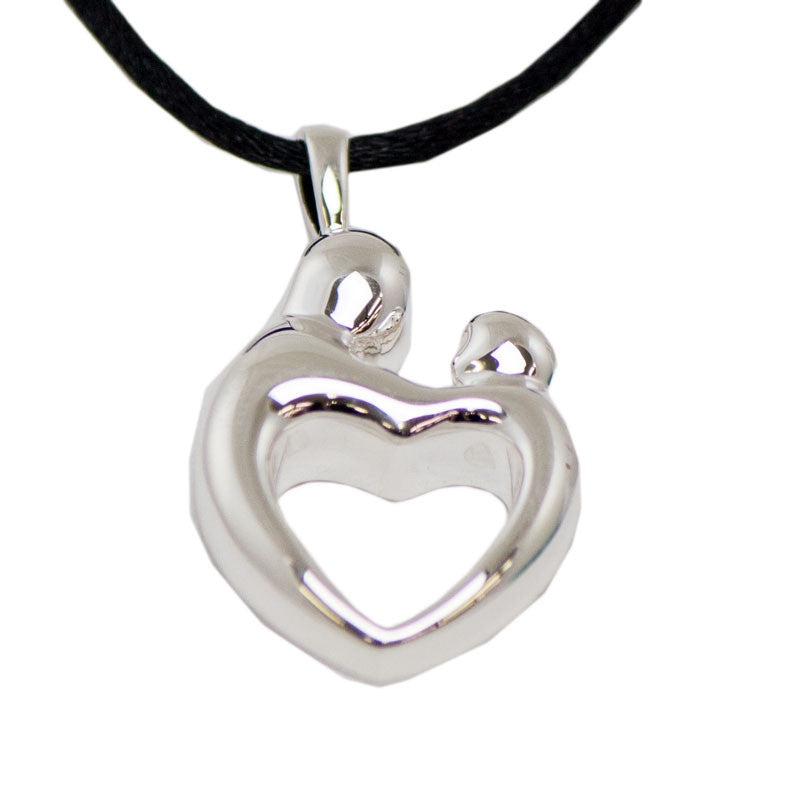 Sterling Silver Parent and Child Cremation Pendant
