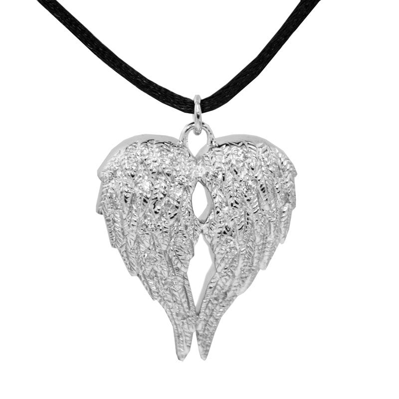 Sterling Silver Angel Wings Companion Urn Pendant