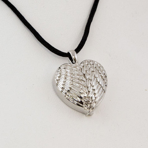 Sterling Silver Angel Wing Cremation Necklace