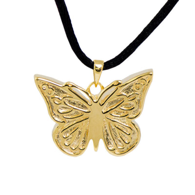 Butterfly Cremation Urn Pendant - Gold Vermeil