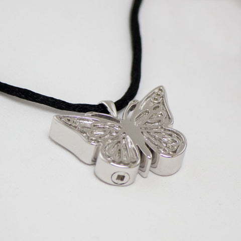 Sterling Silver Butterfly Cremation Necklace