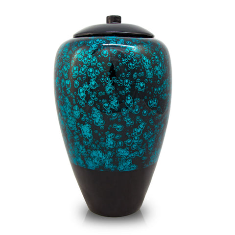 Tall Bamboo Cremation Urn- Blue
