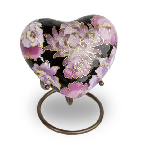 Cloisonne Blush Cremation Keepsake Heart