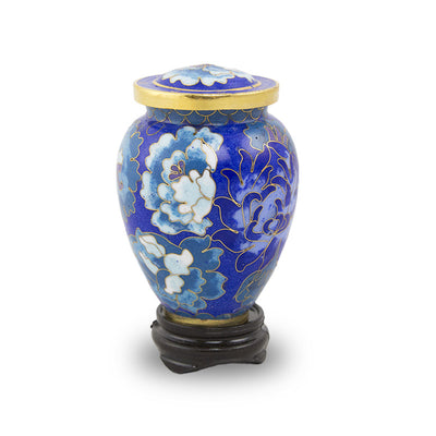 Cloisonne Blue Cremation Keepsake