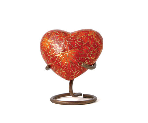 Etienne Heart Cremation Keepsake - Autumn Leaves