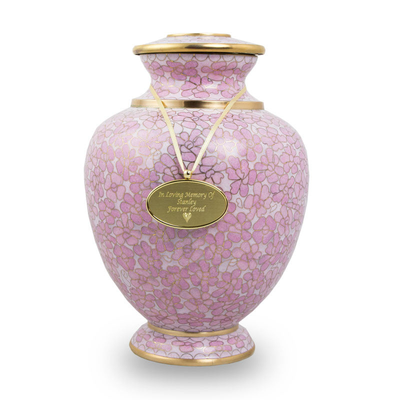 Essence Cloisonne Rose Cremation Urn - Large