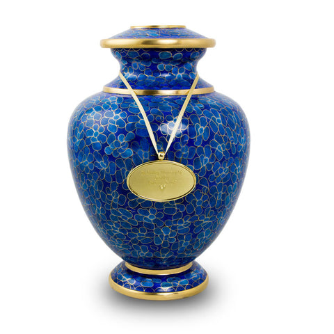 Large Cremation Urn for Ashes - Essence Azure