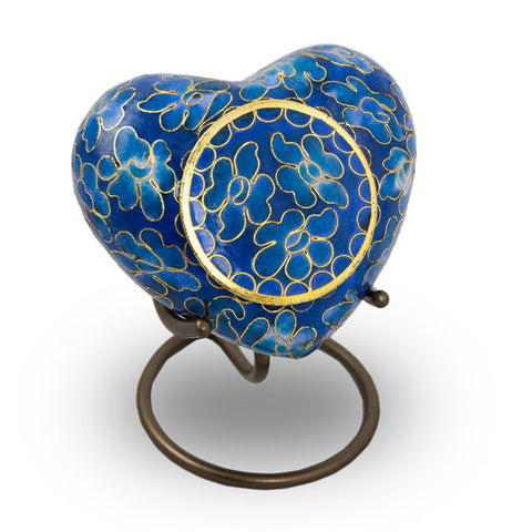 Essence Azure Cremation Keepsake Heart
