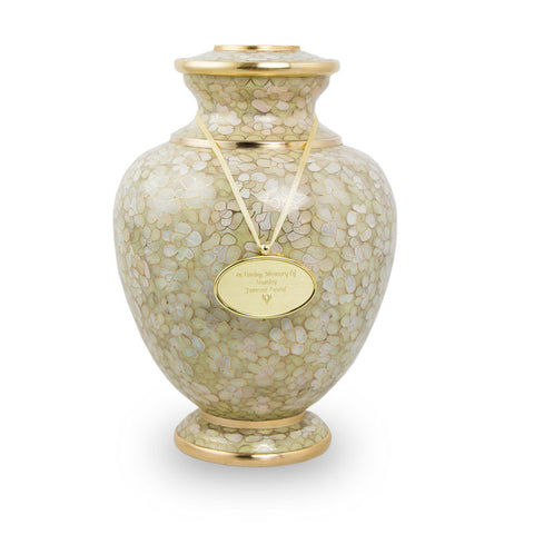 Large Essence Opal Cremation Urn for Ashes