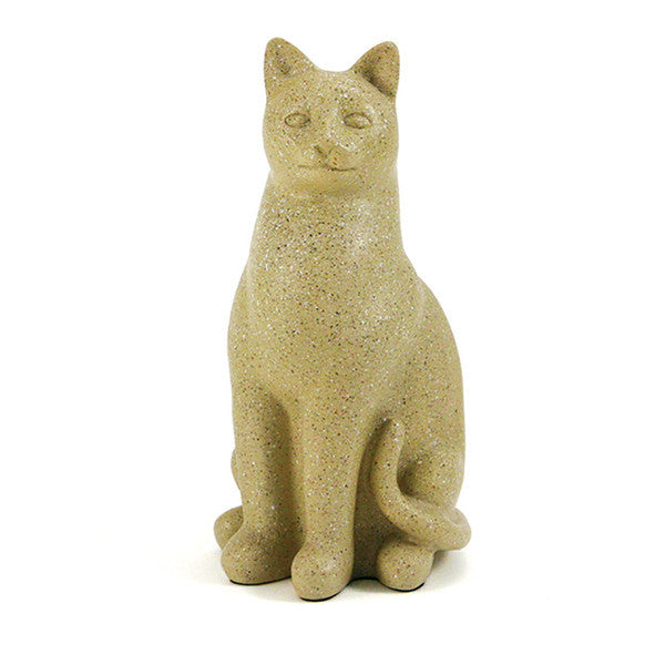Grand Cat Cremation Urn - Fawn