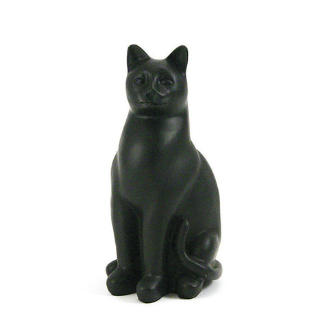 Grand Cat Cremation Urn - Black