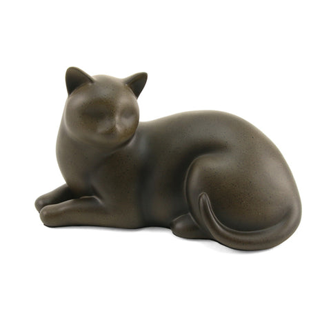 Cozy Cat Cremation Urn - Sable