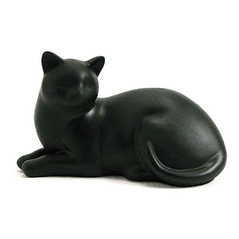 Cozy Cat Cremation Urn - Black