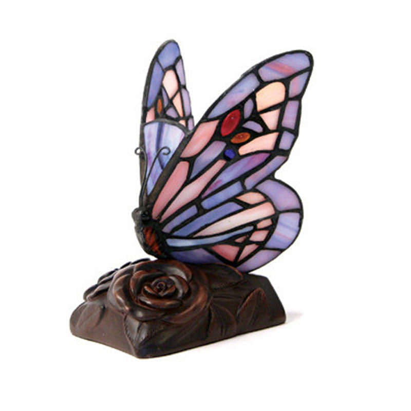 Purple Butterfly Cremation Keepsake Lamp