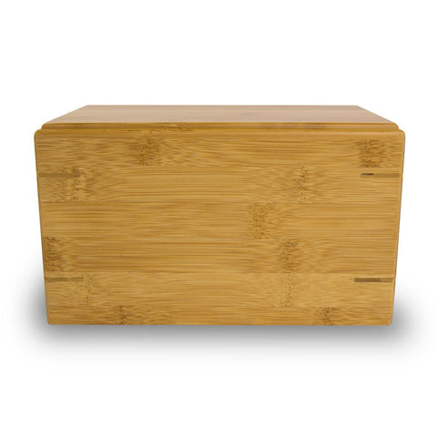 Pet Cremation Urn Bamboo Box - Large