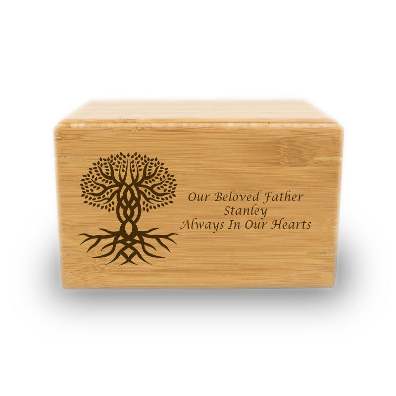 Tree of Life Cremation Urn - Bamboo Box