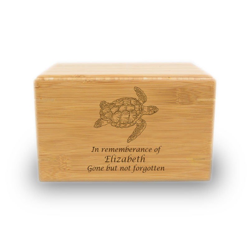 Sea Turtle Cremation Urn - Bamboo Box
