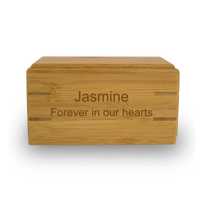 Pet Cremation Urn Bamboo Box - Extra Small