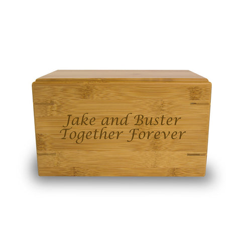 Bamboo Box Cremation Urn - Small