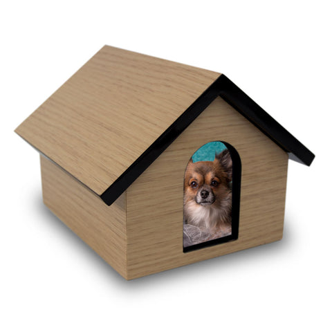 Dog House Cremation Keepsake Box - Tan
