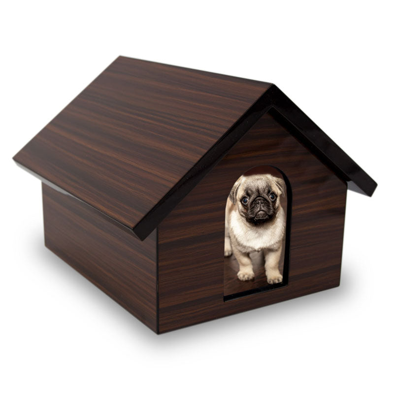 Dog House Cremation Keepsake Box - Brown