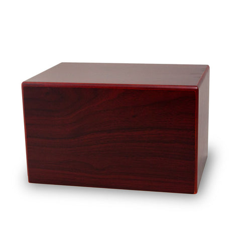 Large Cherry Cremation Urn with Sliding Panel Box