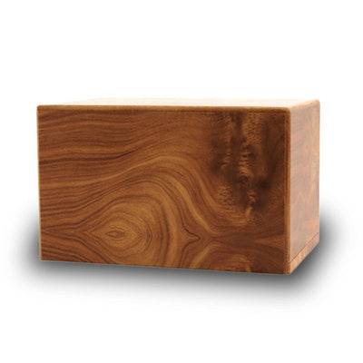 Sliding Panel Wooden Cremation Urn - Medium