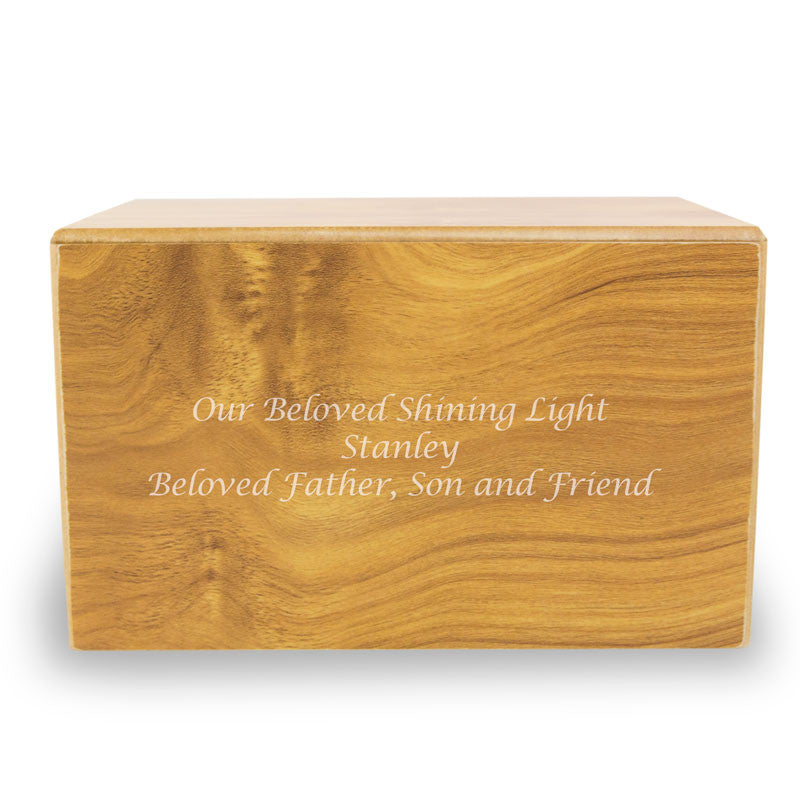 Sliding Panel Wooden Cremation Urn