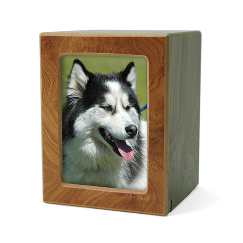 MDF Pet Photo Cremation Urn - Small