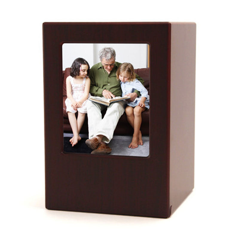 Photo Cremation Urn - Cherry