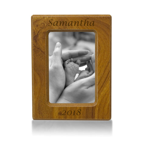 Infant Cremation Photo Urn - Natural