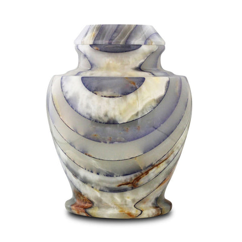Blue Onyx Marble Cremation Urn