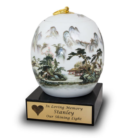 Misty Mountains Adult Ceramic Urn